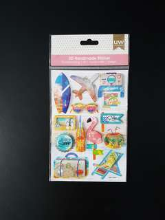 BN 3D Pop-up Stickers for Scrapbook -  Travel (Design 3)