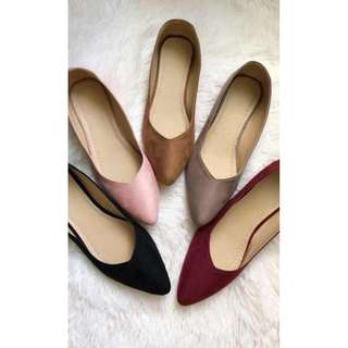 Flats shoes pointed v cut design with FREE SHIPPING -Item code: c1028