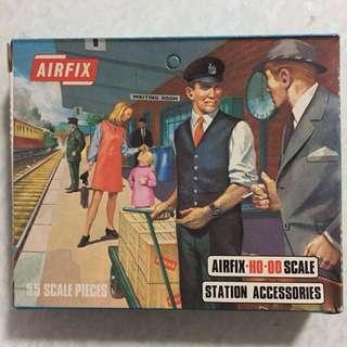 微玩具-人型情景篇-袖珍人型公仔+火車站配件