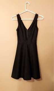 Black Sirens Deep V Cut Dress