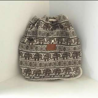Bohemian drawstring bag
