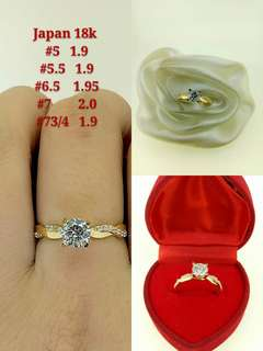 Engagement/ tiffany ring 18k gold