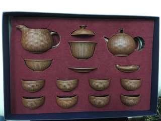 Chinese Purple Clay Handmade Kung Fu tea set-鼎器 原矿紫砂功夫茶具套装 整套茶杯茶壶 家用送礼 手工茶道茶艺