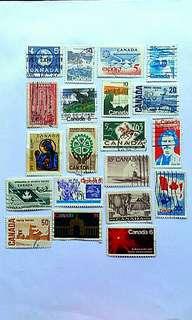 20個 已蓋銷 加拿大🌎郵票