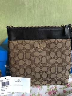 authentic coach brown/khaki sling bag