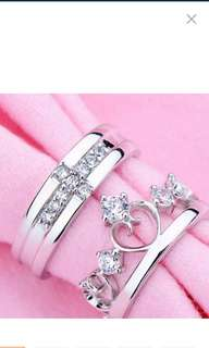 925 Couple ring , wedding ring
