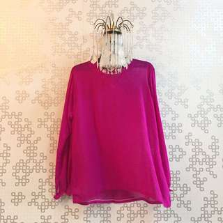 Purple Top 🌸 Condition : 9/10 (can fit L size)  Price : RM 10.00 DM for more details 🖤