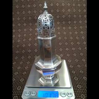 UK Antique 1912 Sterling Silver Shaker/ Condiment Container/ Cruet Stand, (RMEH) Richard Martin & Ebenezer Hall, 101.78g, 15.8cm tall x3.6cm diameter, 英國純銀古董鹽罌/糖罐/香料瓶 www.silvercollection.it/englishsilvermarksXRDUE2.html