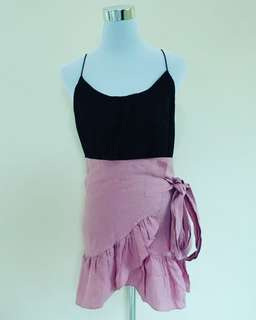 Pink Ruffled Skirt (Wrap around)