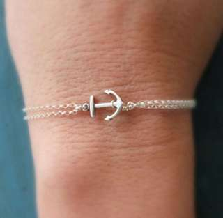 Anchor Double-chain Bracelet