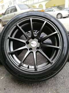 "Advance Racing RS-V Size : 17"" 9jj et25 Pcd :> 5 x 114.3"