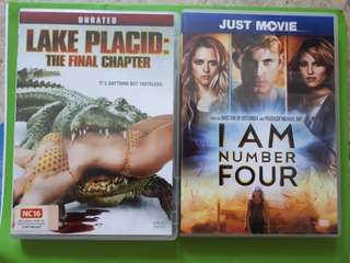 """Giving away """"Lake Placid"""" & """"I am No.4"""" DVD #blessing"""