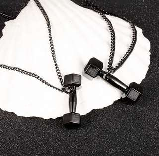 Shields of Strength inspired Dumbell Necklace Phil 4:13