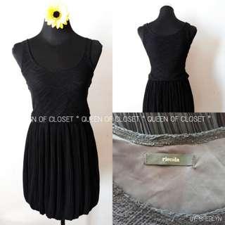 CROCHET/ PLEATED SILK DRESS