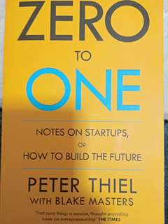 ZERO TO ONE: USED BOOKS FOR ENTERPRENEURS
