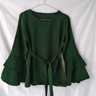 Blouse ikat green