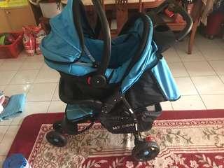 Baby Stroller+car seat