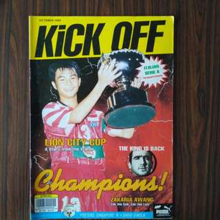 Kickoff Magazine - Indra. Geylang October Nov 1995