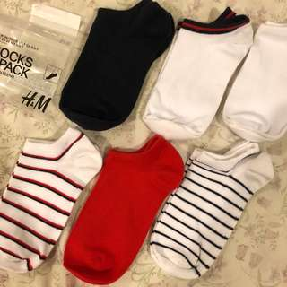 H&M assorted ankle length cotton socks (RM5 for each)