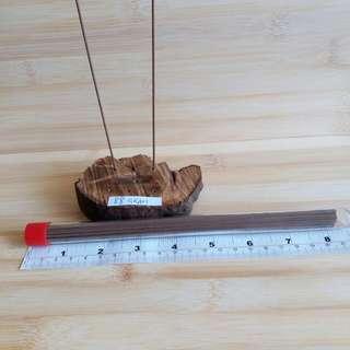 名貴黑油土沉香木座,88GRAM, 加一筒大約40沉香枝