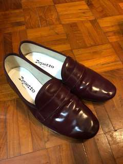 Repetto Michael loafer size 38 棗紅色鞋(限量版顏色)