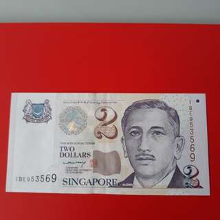 S$2 LHL banknote 9H9T