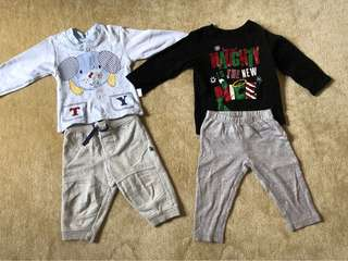 2 Sets of Baby Boys Clothes