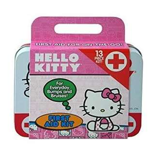 🆕 Hello Kitty 13-Piece First Aid Kit and Hand Sanitizer Bundle