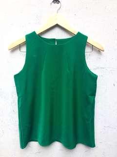 Green Blouse Tank Top