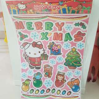 HELLO KITTY XMAS WINDOW STICKERS
