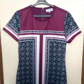 Violet Aztec Dress