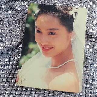 朱茵 婚紗 造型 絕版 YesCard 白咭 S36