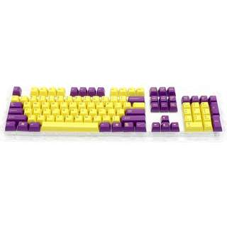 Filco SA Uniform R3 Profile keycaps (By Signature Plastic) - Yellow Purple