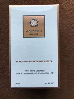 Golden H 100% pure organic rose oil