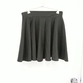 Army Green Skater Skirt