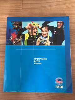 Open Water Diver Manual Padi with dive planner