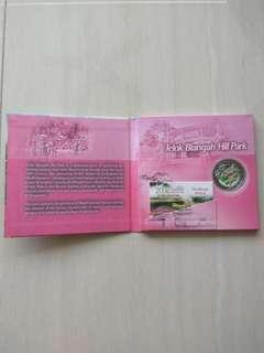 Singapore 2008 Identity Plan Telok Blangah Hill Park $1 Silver Proof Coin