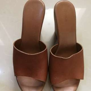 Authentic Dune London brown wedge