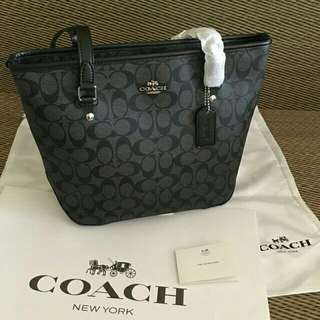 COACH SIGNATURE SMALL TOTE (F58294)