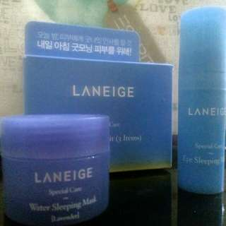 Laneige sleeping mask & eye mask only ( trial kit )