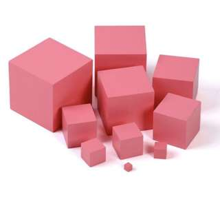 Montessori pink tower maths
