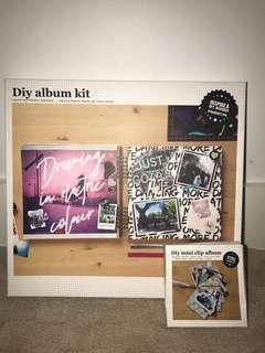 Typo DIY Album Kit and DIY Mini Clip Album