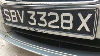 Nice SBV3328X Car Number Plate