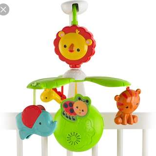 Baby cot stroller musical mobile