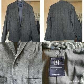 Gap 灰色人字紋西裝外套 Grey Herringbone Blazer