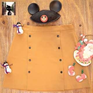 Light Brown, Double Breasted Skirt  (Forever 21)