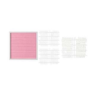 16 by 16 Pink Felt Letterboard
