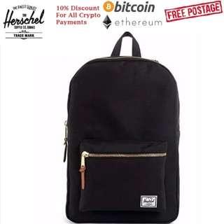 [FREE POSTAGE!] ✔Herschel Settlement Backpack (Black)