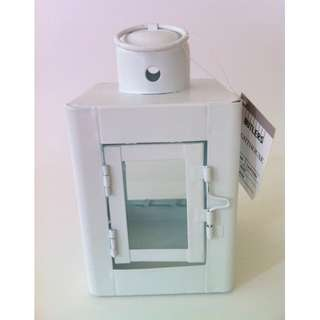 """SKU#L00492Lantern """"Lighthouse"""" by Butlers, 15cm, White"""