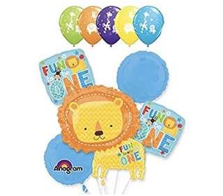 Fun to be One Lion Animal Balloon Bouquet